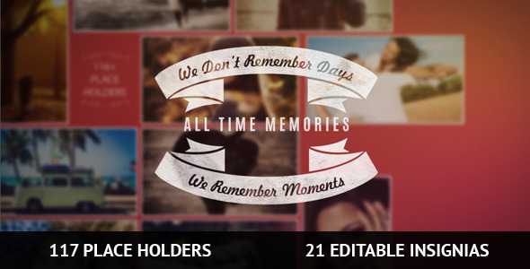 117 PlaceHolders & 21 Insignia Memories Slideshow
