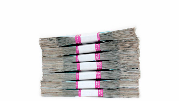 Stack Of Banknotes Packages