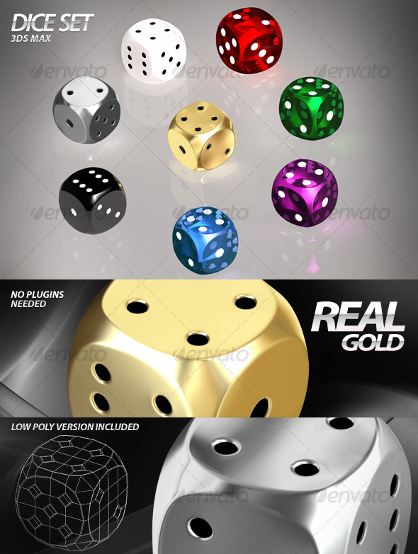 Dice Set 3ds Max