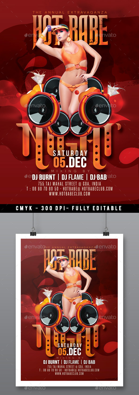 GraphicRiver Muy Caliente Hot Babe Party In Music Club 9385926