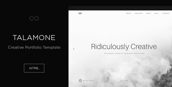 ThemeForest Talamoune Creative Portfolio Template 9459151