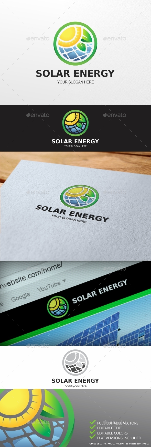 GraphicRiver Solar Energy logo 9459380
