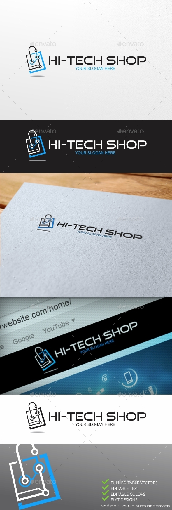GraphicRiver High Tech Shop Logo 9459406