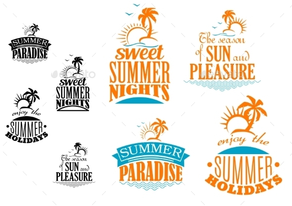 GraphicRiver Set of Summer Vacation Icons 9459609