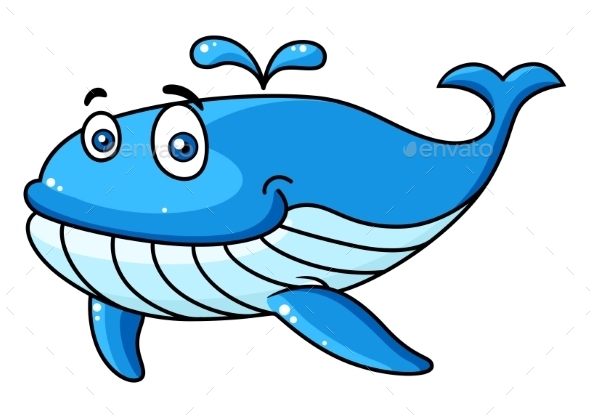 GraphicRiver Cartoon Whale with a Water Spout 9459649