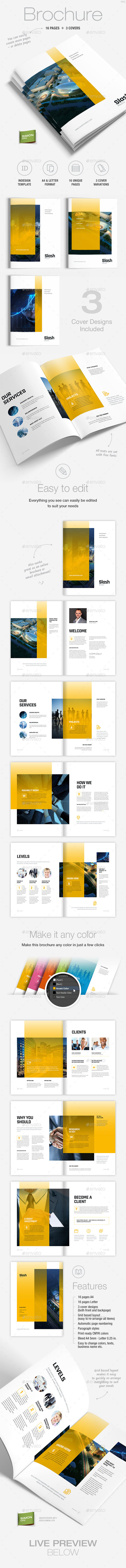 GraphicRiver Brochure Template A4 and Letter Slash 9460030