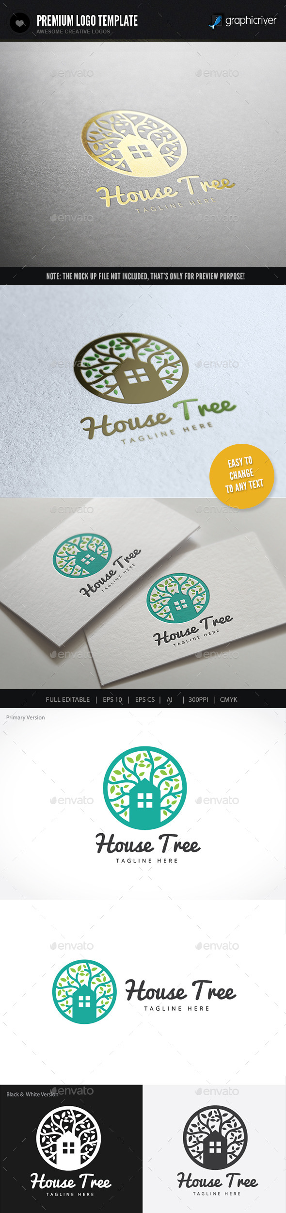 GraphicRiver House Tree 9460151