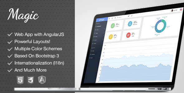 ThemeForest Magic Responsive Bootstrap Admin with Angula 9460276