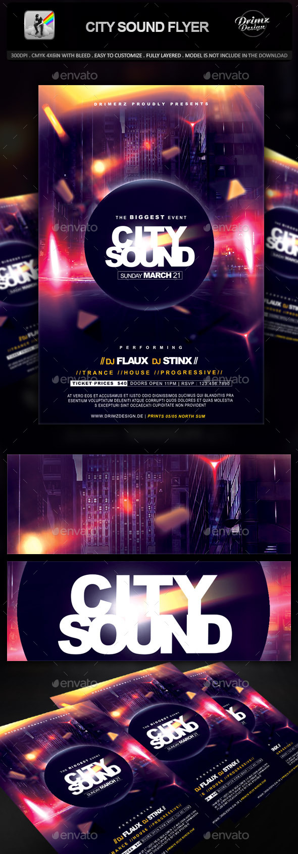 GraphicRiver City Sound Flyer 9460284