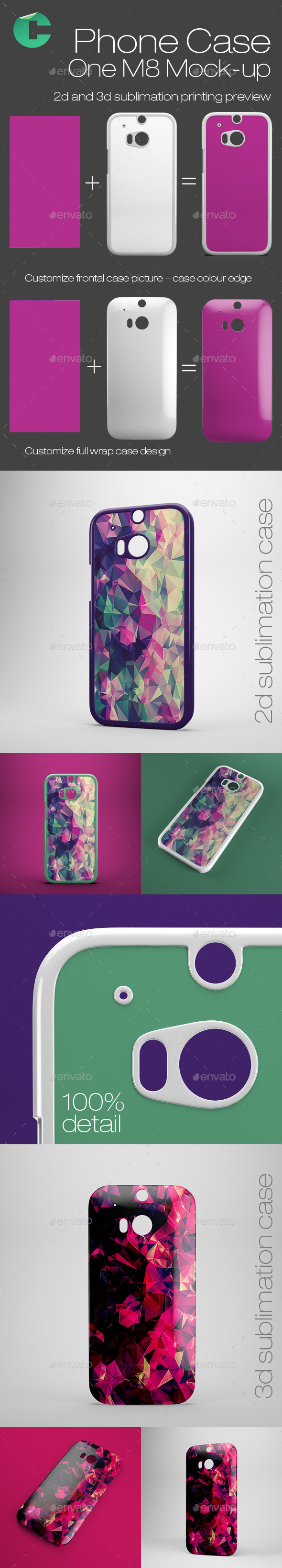 GraphicRiver Phone Case One M8 Mock-Up 9460359