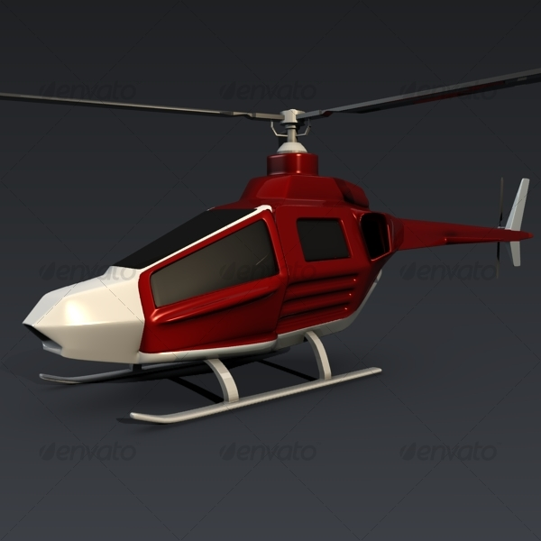 Civil helicopter - 3DOcean Item for Sale