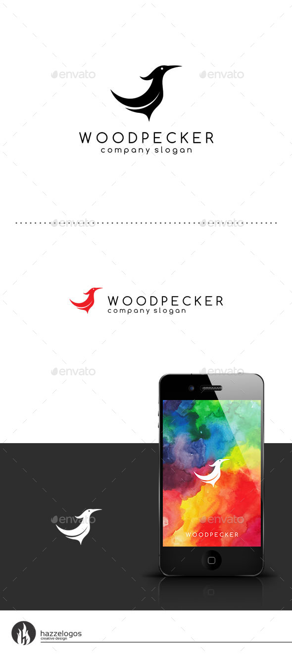 GraphicRiver Woodpecker Logo 9460551