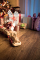 Wooden train with christmas gift - PhotoDune Item for Sale
