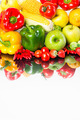 Healthy vegetables and fruits on white background - PhotoDune Item for Sale