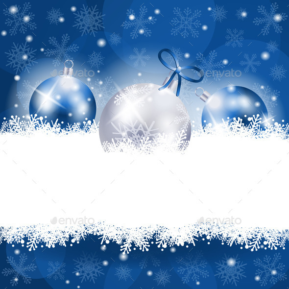 GraphicRiver Christmas Background in Blue with Copy Space 9414238