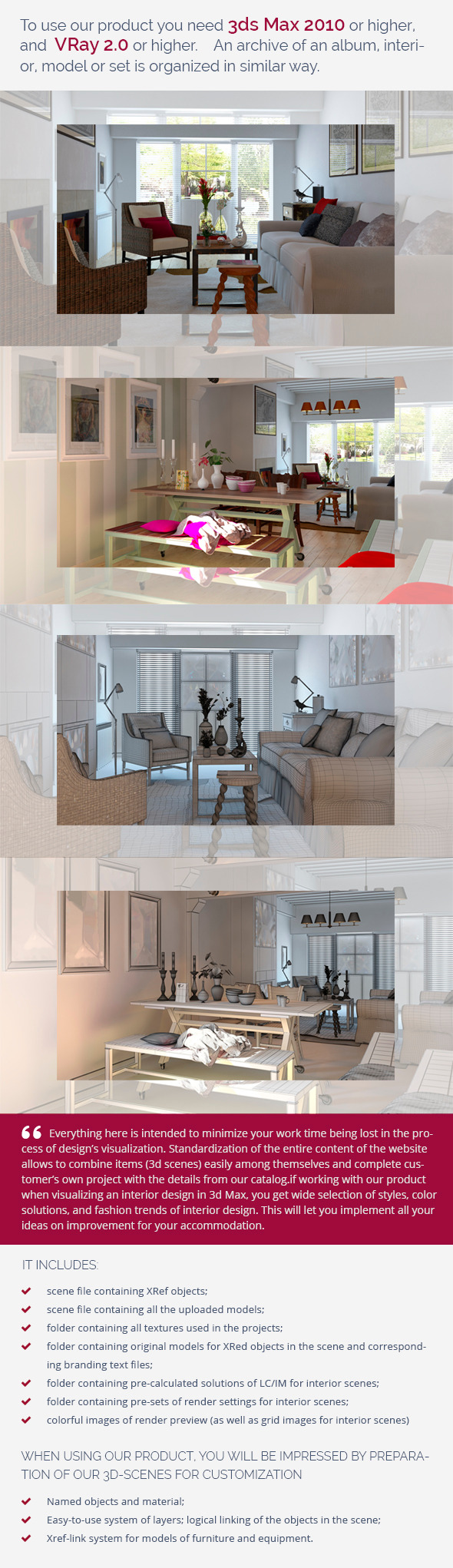 Living Room 0368 - 3DOcean Item for Sale