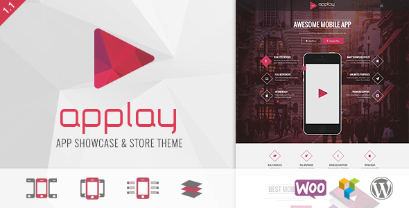 ThemeForest Applay Wordpress App Showcase & App Store Theme 9381060