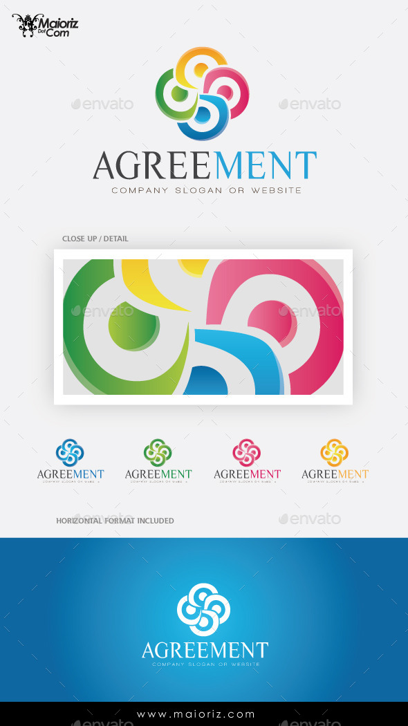 GraphicRiver Agreement Logo Template 9461152