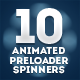 10 Animated Preloader Spinners - GraphicRiver Item for Sale