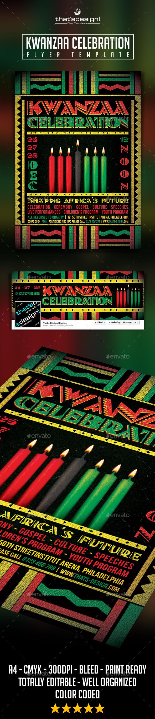 GraphicRiver Kwanzaa Flyer Template 9461472
