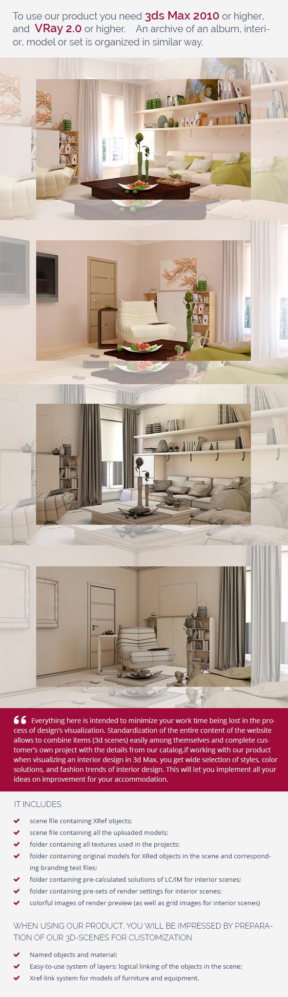 Living Room 0444 - 3DOcean Item for Sale