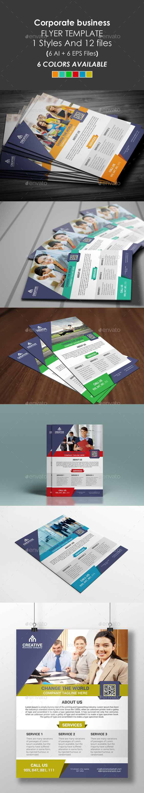 GraphicRiver Corporate Flyer Template 9462866