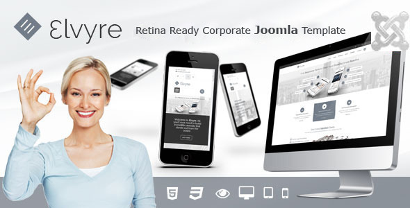 ThemeForest Elvyre Retina Ready Joomla Template 9463196