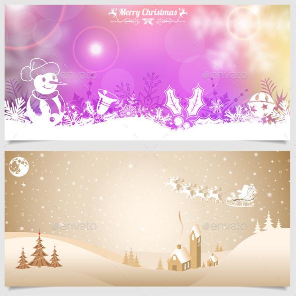 GraphicRiver Christmas Banners 9463574