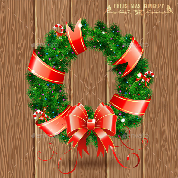 GraphicRiver Christmas Wreath 9463634