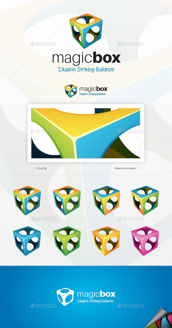 GraphicRiver Magic Box Logo 9463772