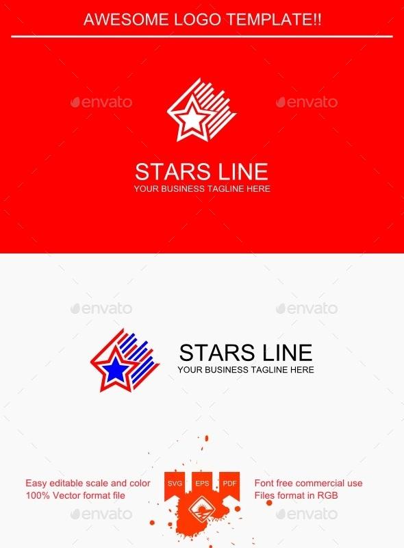 GraphicRiver Stars Line Logo 9427331