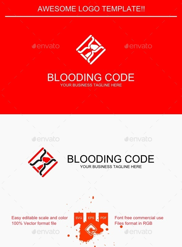 GraphicRiver Blooding Code Logo 9427334