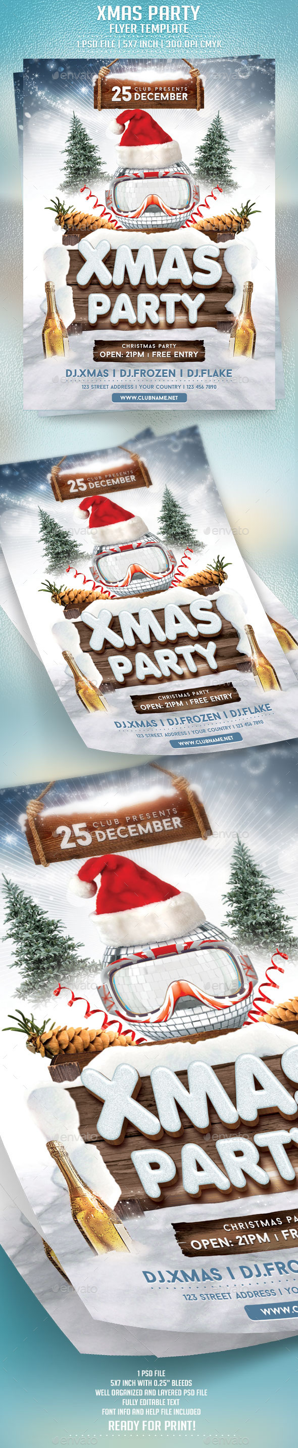 GraphicRiver Xmas Party Flyer Template 9431140