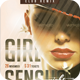 Girl Sensual Night Party Flyer - GraphicRiver Item for Sale