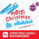 5 Christmas Cards Psd/ Backgrounds - GraphicRiver Item for Sale