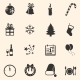 Set of New Year and Christmas Icons - GraphicRiver Item for Sale