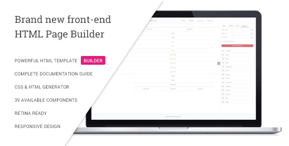 VSBuilder - Pure HTML and CSS Page Builder - CodeCanyon Item for Sale