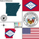 Map of State Arkansas, USA - GraphicRiver Item for Sale