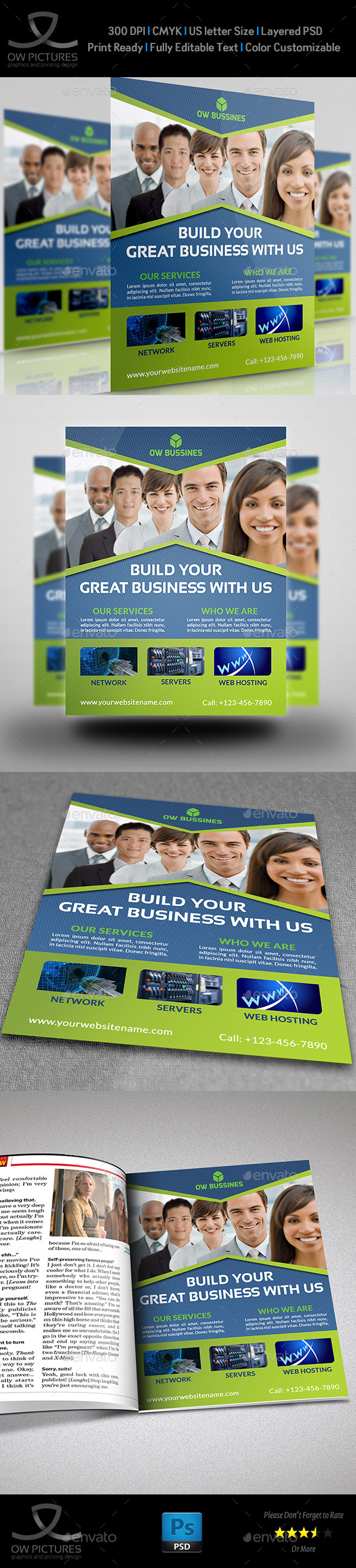 GraphicRiver Corporate Business Flyer Template Vol.17 9465402