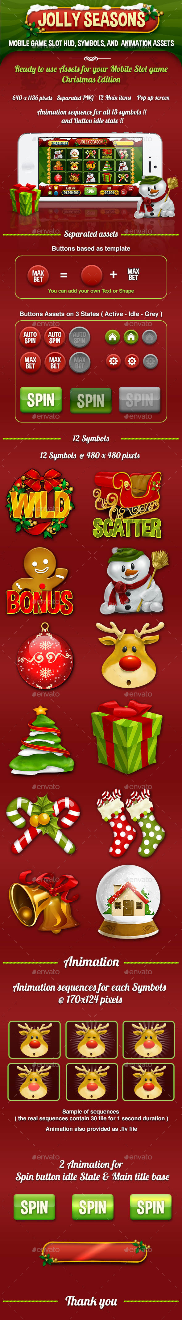 GraphicRiver Jolly Seasons Slot Mobile Game Kits Assets 9465606