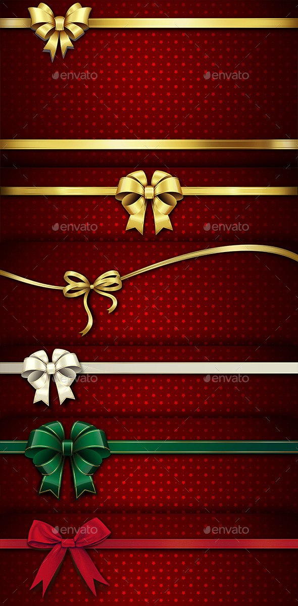 GraphicRiver Christmas Ribbon 9465744