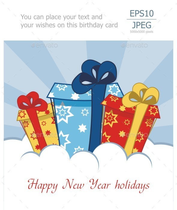 GraphicRiver Gifts Greeting Card 9466077