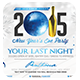 Elegant New Year's Eve Party   Horizontal Flyer - GraphicRiver Item for Sale