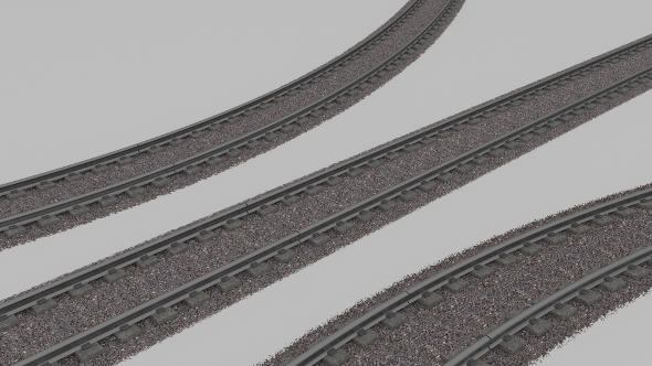 Train/Subway Rail - 3DOcean Item for Sale