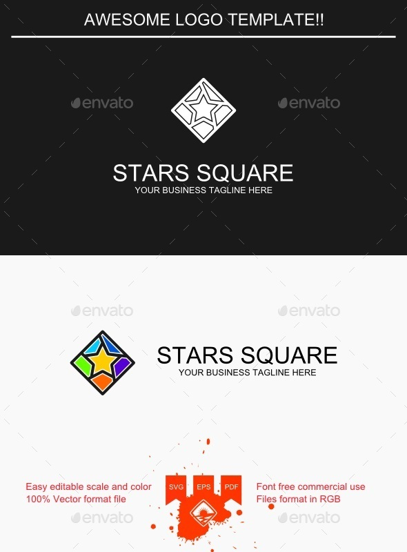 GraphicRiver Stars Square Logo 9435901