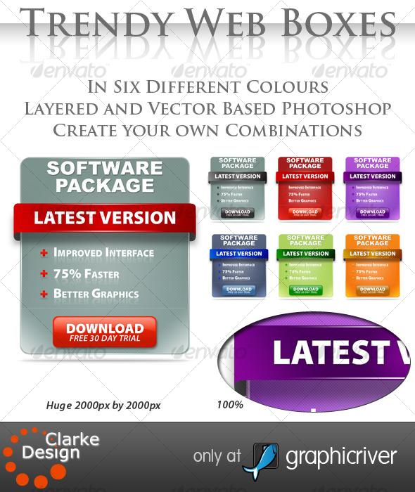 GraphicRiver Trendy Web Boxes 121062
