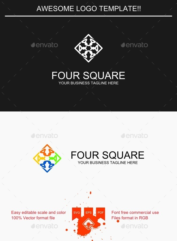 GraphicRiver Four Square Logo 9435906
