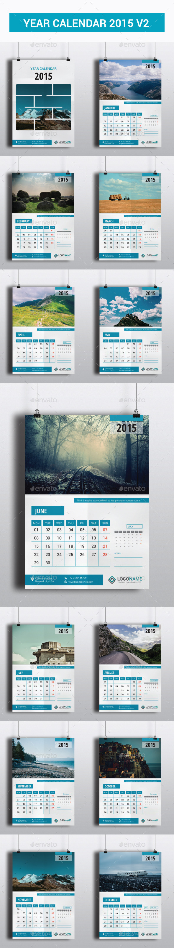 GraphicRiver Year Calendar 2015 V2 9467270