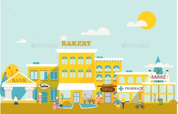 GraphicRiver Small Town 9467625