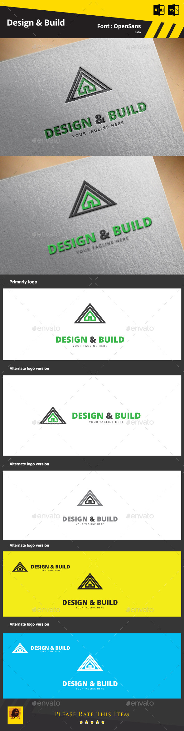 GraphicRiver Design & Build Logo Template 9467690